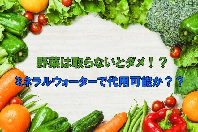 野菜をとらないといけない?「ミネラルウォーターで代用可能か?」